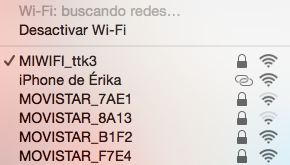 Busqueda red Wifi