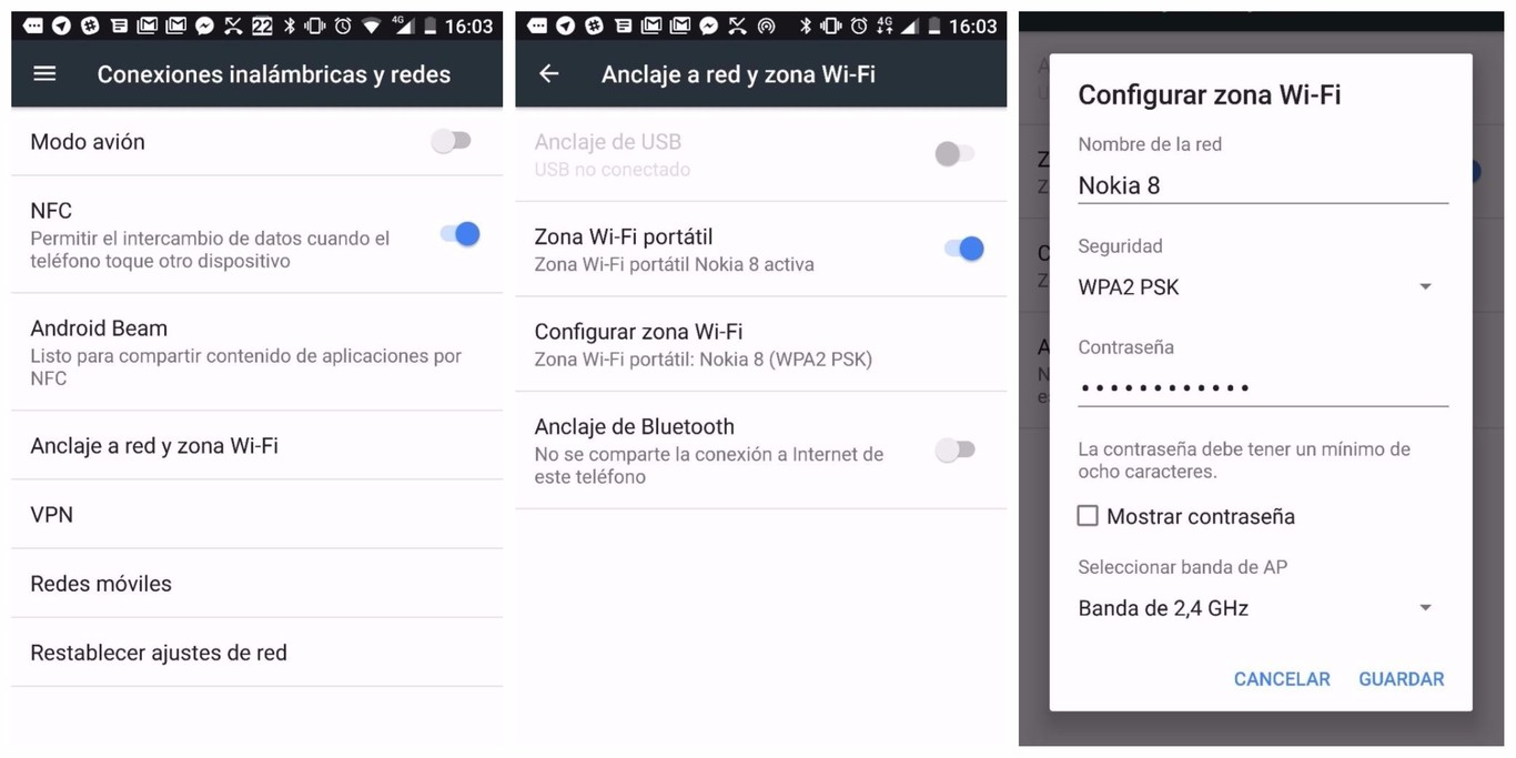 Compartir Wifi Android