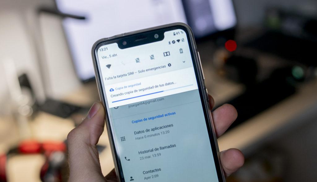 Crear copia de seguridad en iPhone y Android